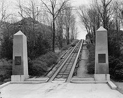 Granite Railway Monument in Quincy, MA