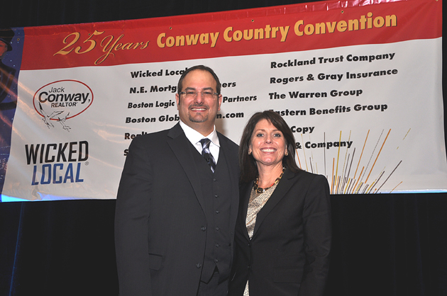 Real estate coach and social media expert Matt Ferrara and Conway CEO Carol Bulman.