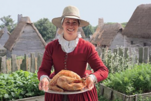 Partake in a day of thanks with the Pilgrims at Plimoth Plantation in Plymouth MA